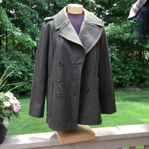 **  Croft and Barrow olive wool coat